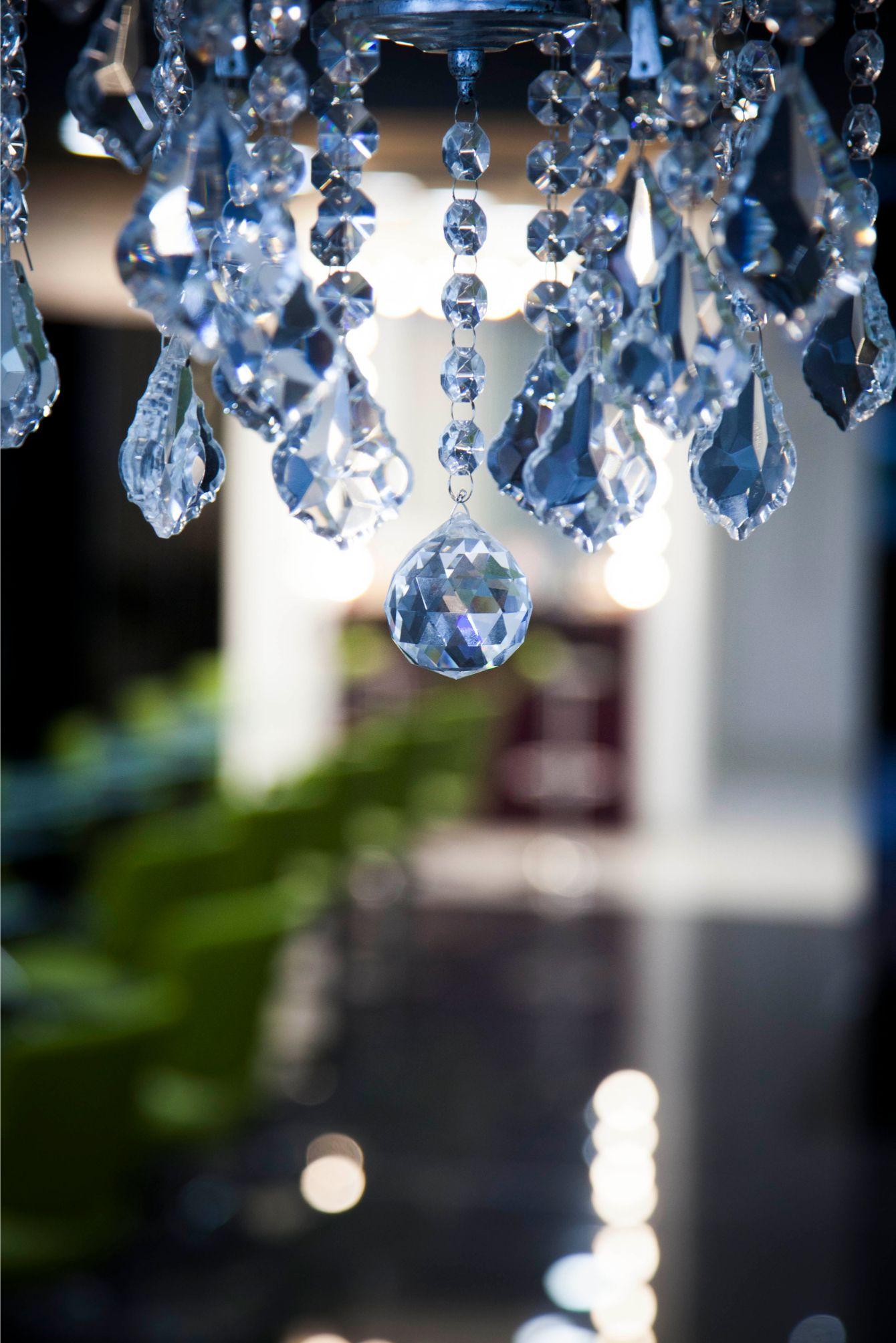 allure hair and beauty salon chandelier